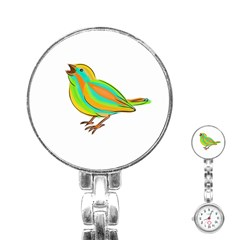 Bird Stainless Steel Nurses Watch