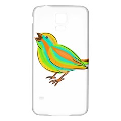 Bird Samsung Galaxy S5 Back Case (White)