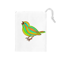 Bird Drawstring Pouches (Medium)