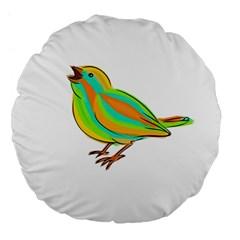 Bird Large 18  Premium Flano Round Cushions