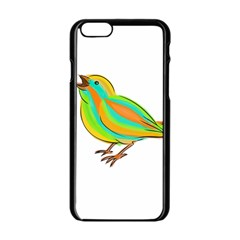 Bird Apple iPhone 6/6S Black Enamel Case