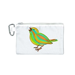 Bird Canvas Cosmetic Bag (S)