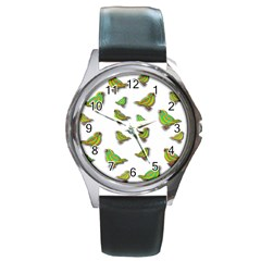 Birds Round Metal Watch