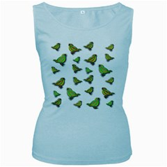 Birds Women s Baby Blue Tank Top