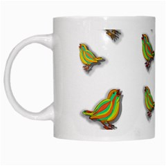 Birds White Mugs