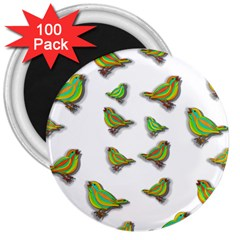 Birds 3  Magnets (100 pack)