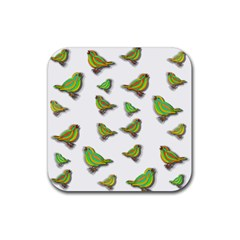 Birds Rubber Square Coaster (4 pack)