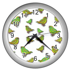 Birds Wall Clocks (Silver)