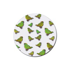 Birds Rubber Round Coaster (4 pack)