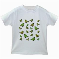 Birds Kids White T-Shirts