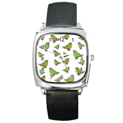 Birds Square Metal Watch