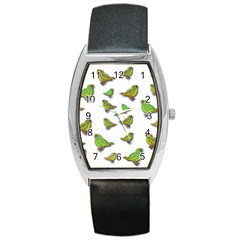 Birds Barrel Style Metal Watch