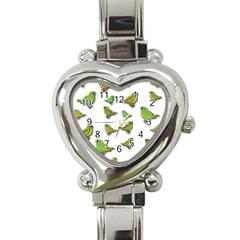Birds Heart Italian Charm Watch