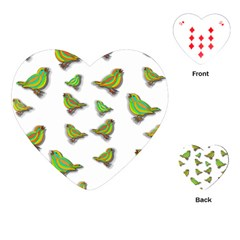 Birds Playing Cards (Heart)
