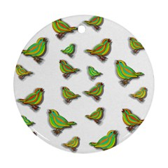 Birds Round Ornament (Two Sides)