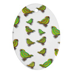 Birds Oval Ornament (Two Sides)