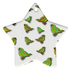 Birds Star Ornament (Two Sides)