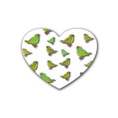 Birds Rubber Coaster (Heart)