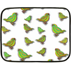 Birds Double Sided Fleece Blanket (Mini)