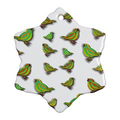 Birds Snowflake Ornament (Two Sides)