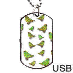 Birds Dog Tag USB Flash (One Side)