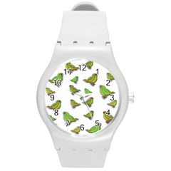Birds Round Plastic Sport Watch (M)