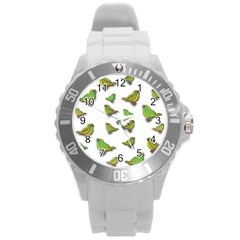 Birds Round Plastic Sport Watch (L)