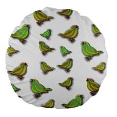 Birds Large 18  Premium Round Cushions