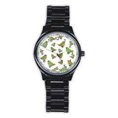 Birds Stainless Steel Round Watch