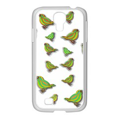 Birds Samsung GALAXY S4 I9500/ I9505 Case (White)