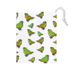 Birds Drawstring Pouches (Large)