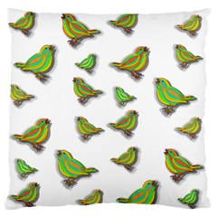 Birds Large Flano Cushion Case (One Side)
