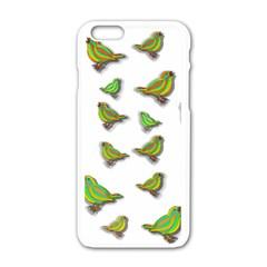 Birds Apple iPhone 6/6S White Enamel Case