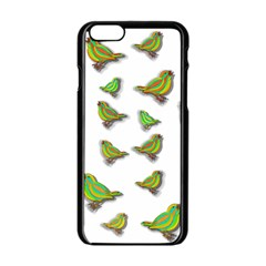 Birds Apple iPhone 6/6S Black Enamel Case