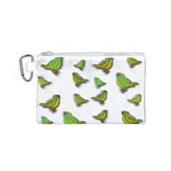 Birds Canvas Cosmetic Bag (S)