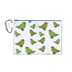 Birds Canvas Cosmetic Bag (M)
