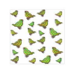 Birds Small Satin Scarf (Square)