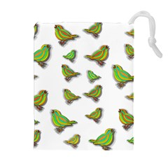 Birds Drawstring Pouches (Extra Large)