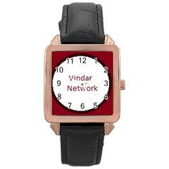 Logo Rose Gold Leather Watch