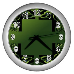 Celtic Corners Wall Clocks (Silver)