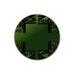Celtic Corners Rubber Round Coaster (4 Pack)