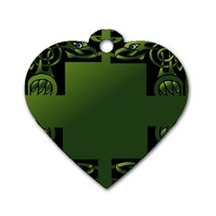Celtic Corners Dog Tag Heart (two Sides)