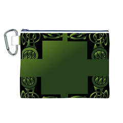 Celtic Corners Canvas Cosmetic Bag (L)