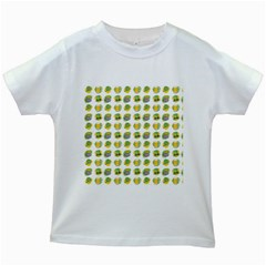 St Patrick S Day Background Symbols Kids White T-Shirts