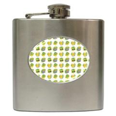 St Patrick s Day Background Symbols Hip Flask (6 Oz)