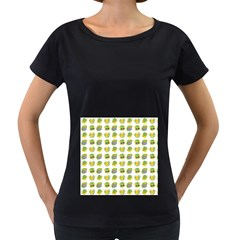 St Patrick S Day Background Symbols Women s Loose-Fit T-Shirt (Black)