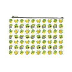 St Patrick s Day Background Symbols Cosmetic Bag (large)