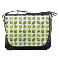 St Patrick S Day Background Symbols Messenger Bags