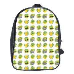 St Patrick S Day Background Symbols School Bags (XL)