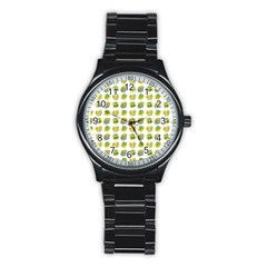 St Patrick S Day Background Symbols Stainless Steel Round Watch